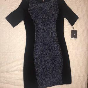 Tweed panel dress